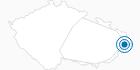 Skigebiet Grun Ski MSA Tschechische Karpaten: Position auf der Karte