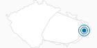 Skigebiet Pustevny Tschechische Karpaten: Position auf der Karte