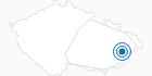 Skigebiet Trojak Tschechische Karpaten: Position auf der Karte