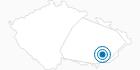 Skigebiet Stupava Tschechische Karpaten: Position auf der Karte