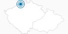 Skigebiet Telnice Erzgebirge Krusne hory: Position auf der Karte