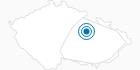 Skigebiet Privrat Adlergebirge: Position auf der Karte