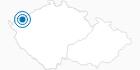Skigebiet Plesivec (Pleßberg) - Abertamy Erzgebirge Krusne hory: Position auf der Karte