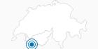 Skigebiet Vicheres Liddes in Verbier St. Bernhard: Position auf der Karte