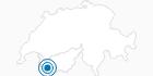 Skigebiet Champex Lac in Martigny - Les 4 Vallées: Position auf der Karte