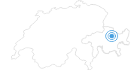 Skigebiet Davos Klosters Mountains in Davos Klosters: Position auf der Karte