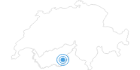 Skigebiet Saas Fee im Saastal: Position auf der Karte