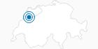 Skigebiet Les Bugnenets Savagnieres in Neuenburg: Position auf der Karte