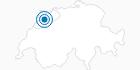 Skigebiet Les Genevez in Jura Bernois: Position auf der Karte