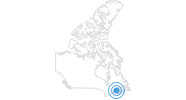 Ski Resort Mont Farlagne in the Southeastern New Brunswick: Position on map