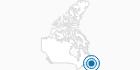 Skigebiet Marble Mountain Resort in der Zentralregion von Neufundland: Position auf der Karte
