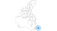 Ski Resort White Hills in the Newfoundland Central Region: Position on map