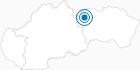 Skigebiet Tatranska Lomnica in der Slowakische Hohe Tatra: Position auf der Karte