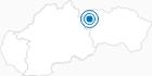 Skigebiet Stary Smokovec in der Slowakische Hohe Tatra: Position auf der Karte