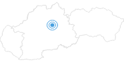 Skigebiet Park Snow Donovaly in der Große Fatra: Position auf der Karte