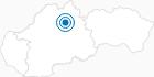 Skigebiet Ruzomberok in der Große Fatra: Position auf der Karte