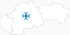 Skigebiet Skalka pri Kremnici in der Niedere Tatra: Position auf der Karte