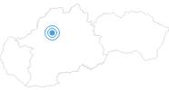 Skigebiet Fackovske Sedlo Klak in der Kleine Fatra: Position auf der Karte