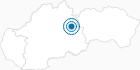Skigebiet Certovica in der Niedere Tatra: Position auf der Karte