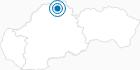 Skigebiet Ski Oravska Lesna in der West Tatra: Position auf der Karte