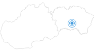 Skigebiet Kavecany in der Region Kosice und Umgebung: Position auf der Karte