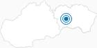Skigebiet Poracska dolina in der Region Kosice und Umgebung: Position auf der Karte