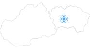 Skigebiet Relax center Plejsy Krompachy in der Region Kosice und Umgebung: Position auf der Karte