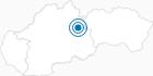 Skigebiet Bacova Roven in der Niedere Tatra: Position auf der Karte