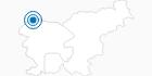 Skigebiet Kranjska Gora im Zgornjesavska Tal: Position auf der Karte