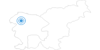 Ski Resort Vogel in the Gorenjska region: Position on map