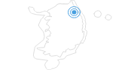 Ski Resort Alpensia at the Taebaek Mountains: Position on map