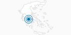 Skigebiet Kalavrita-Helmos in Achaia: Position auf der Karte