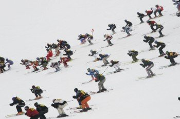 """Legendäres Skirennen """"Der Weisse Rausch"""""""