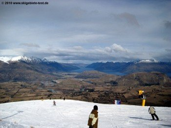 panorama at the mountain station of the