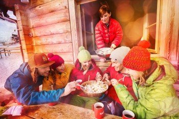 The choice for hungry skiers is wide