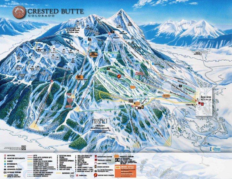 Black Bear Pass Colorado >> Pistenplan Crested Butte • Offene Lifte & Pisten • Skipanorama