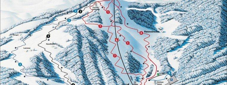 Pistenplan Skiarena Lammeralm