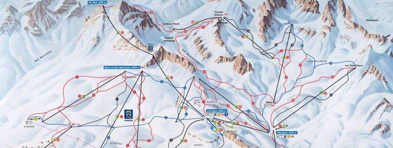 Pistenplan St. Moritz - Corviglia