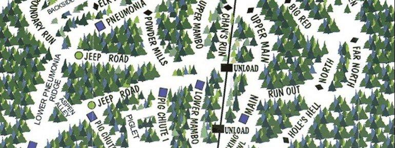 Pistenplan Turner Mountain