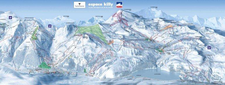 Pistenplan Val d'Isère