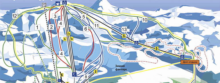 Trail Map Abzakovo