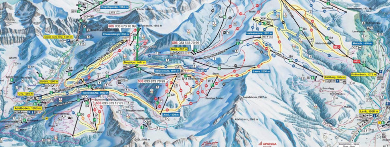 Trail Map Adelboden Lenk
