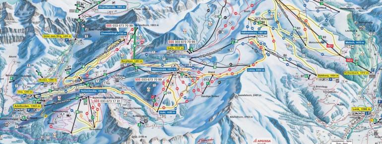 Trail Map Adelboden Lenk