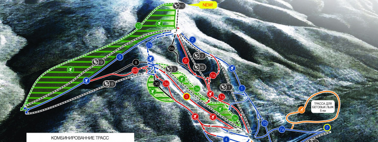 Trail Map Adzhigardak