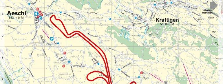 Trail Map Aeschi