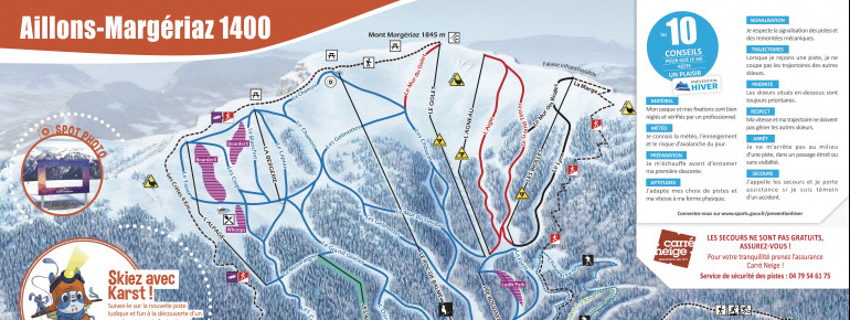 Trail Map Aillons Margeriaz