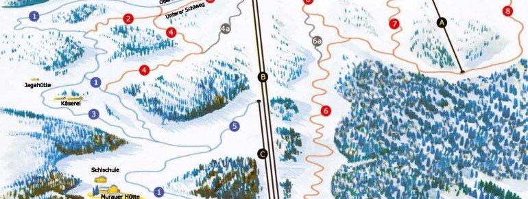 Trail Map Alp Frauenalpe Murau