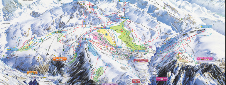 Trail Map Alpe d'Huez