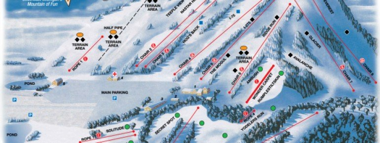 Trail Map Alpine Valley Ski Area