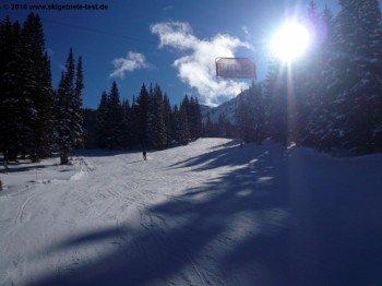 "Easy terrain at the ""Sunnyside lifts"""